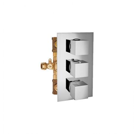 """Miscelatore termostatico doccia 2 rubinetti 3/4"""" Track"""