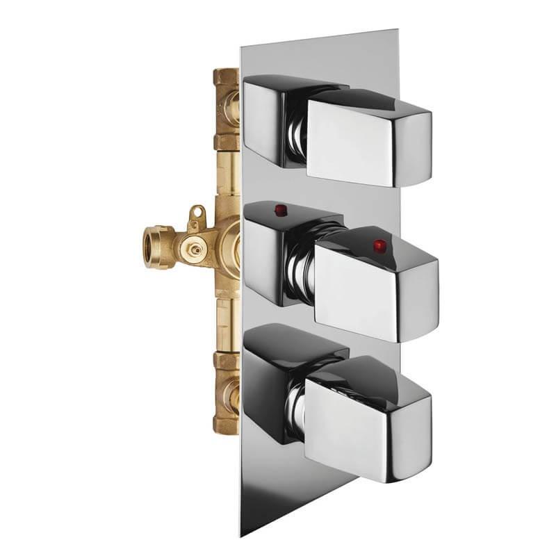 """Miscelatore termostatico doccia 2 rubinetti Mis 2u 1/2"""""""