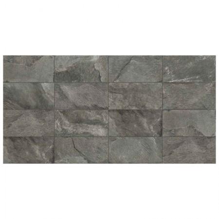 Dark grey rettificato strutturato 61,3x122,6 Tribeca