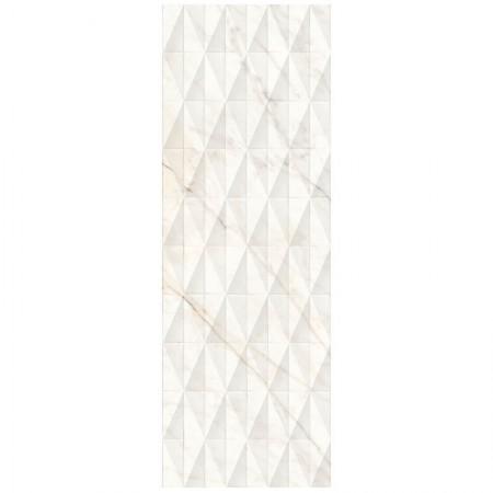 Piastrella Marazzi serie Allmarble wall Golden White struttura   Pavè lucido 3D 40x120