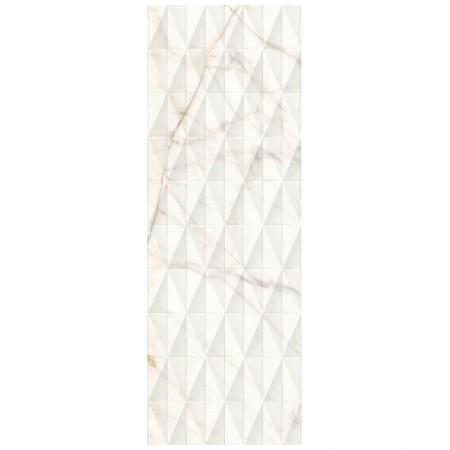 Piastrella Marazzi serie Allmarble wall Golden White struttura Pavè satinato 3D 40x120