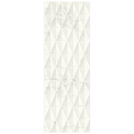 Piastrella Marazzi serie Allmarble wall Altissimo struttura pavè 3D lucido 40x120