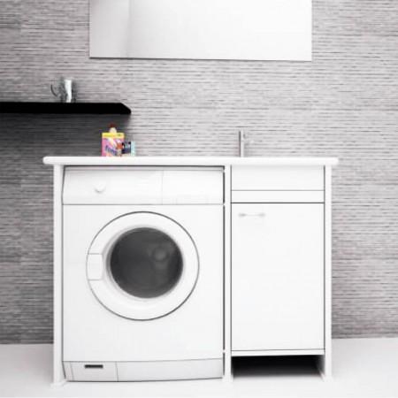 Lavanderia Compatta con vano porta lavatrice a vista L107 con anta