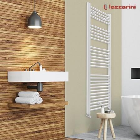 Scaldasalviette bagno Lazzarini serie Sanremo bianco a parete