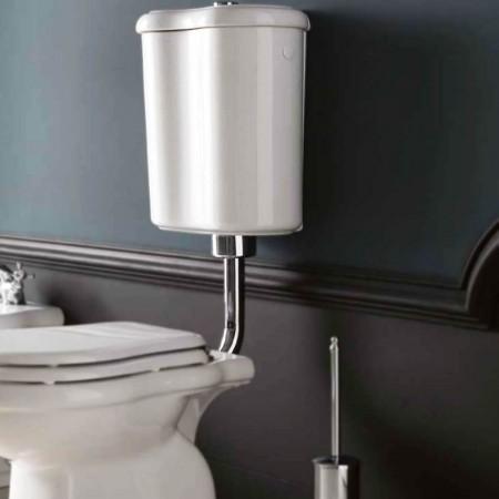 Cassetta a zaino wc Axa serie Contea in ceramica bianca
