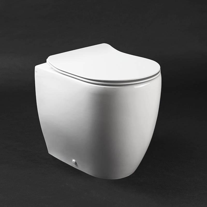 Vaso wc a terra Axa serie Glomp con copriwc termoindurente soft close