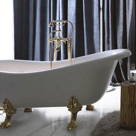 Vasca da bagno con piedini Axa serie Contea in acrilico bianca
