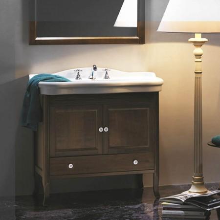 Consolle lavabo Axa serie Contea ceramica bianca